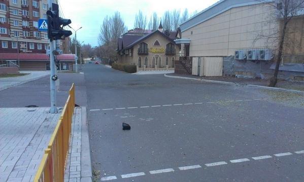 В Донецке снаряды упали на проспекте Панфилова (ФОТО), фото-2