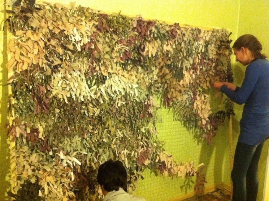 Криворожанки изготовили более 200 квадратных метров маскировочной сетки и принялись за «кикимору» (ФОТО), фото-3
