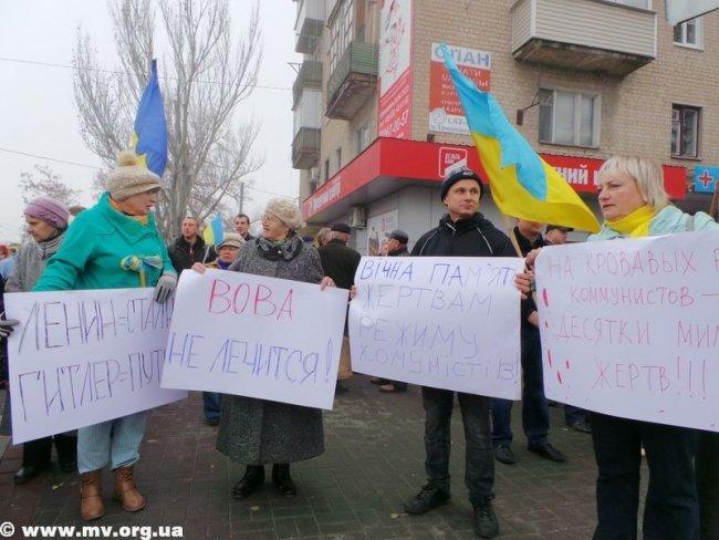 В Мелитополе коммунистов не пустили пройти маршем по главному проспекту (ФОТО, ВИДЕО), фото-3