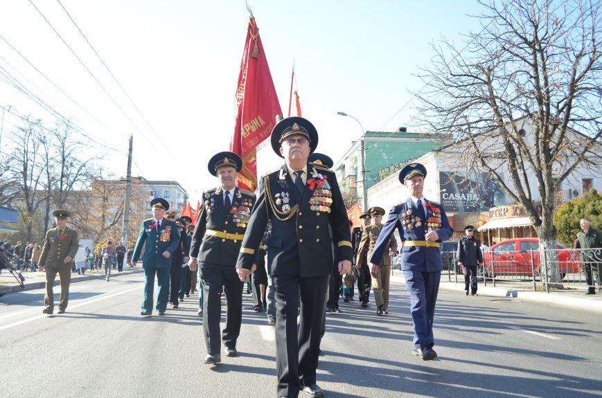 ФОТОРЕПОРТАЖ: В Симферополе коммунисты вышли на митинг с красными знаменами и портретами Сталина, фото-10