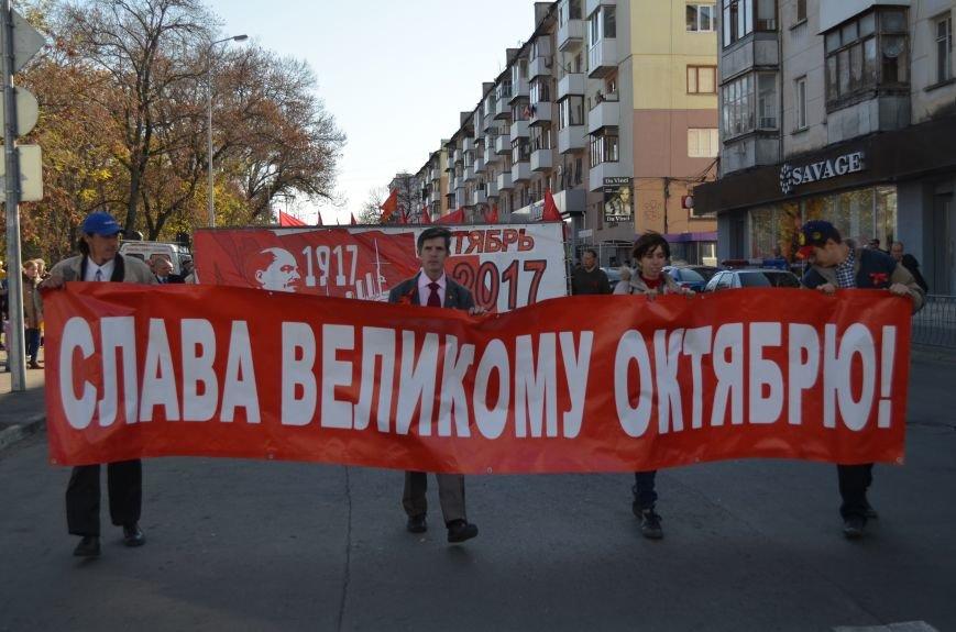 ФОТОРЕПОРТАЖ: В Симферополе коммунисты вышли на митинг с красными знаменами и портретами Сталина, фото-8