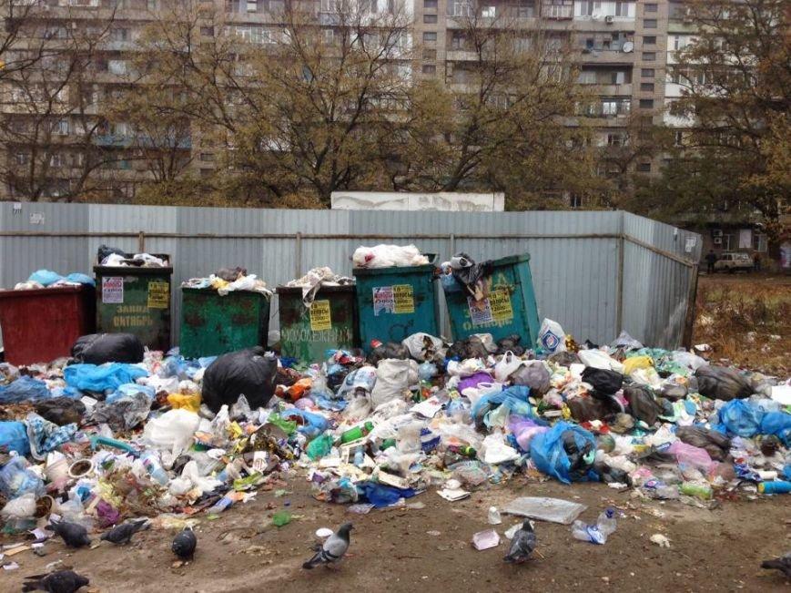 В Мариуполе нерадивые жильцы и коммунальники не доносят мусор до контейнеров (ФОТО), фото-1