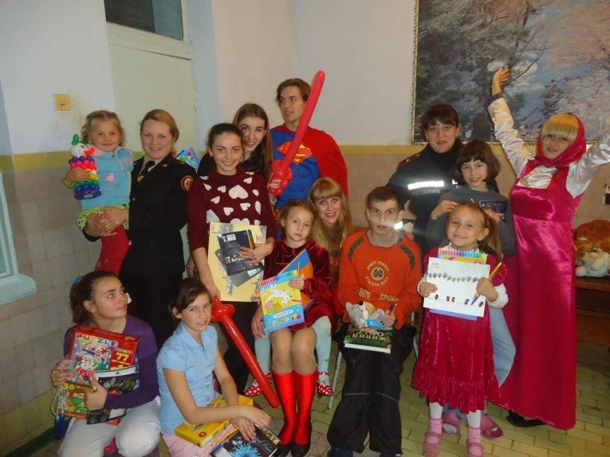 Херсонский спасатели устроили праздник детям-переселенцам, фото-1