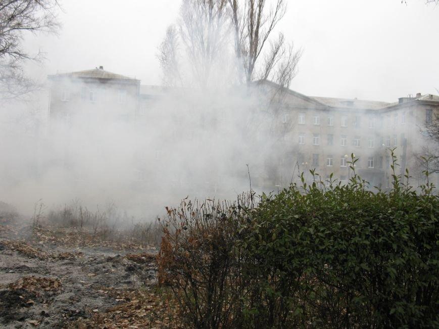 «Забота» о здоровье больных в Красноармейске – костры и дым на территории больницы, фото-1