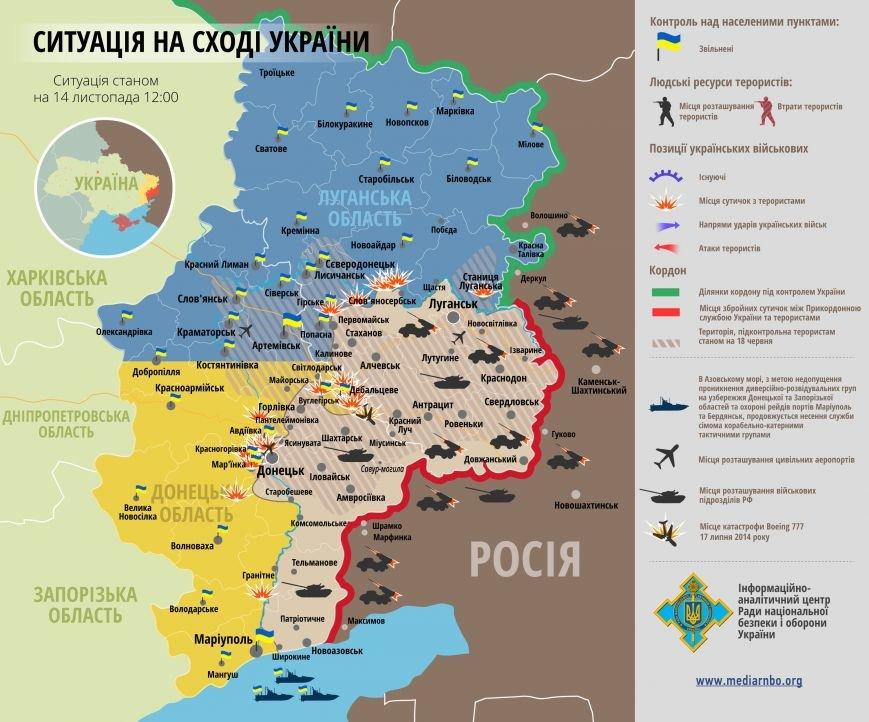 Представлена актуальная карта боевых действий на Донбассе, фото-1