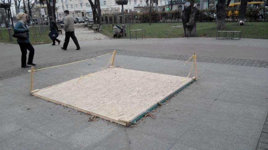 В Сумах на зиму законсервировали фонтан на Покровской площади, фото-1