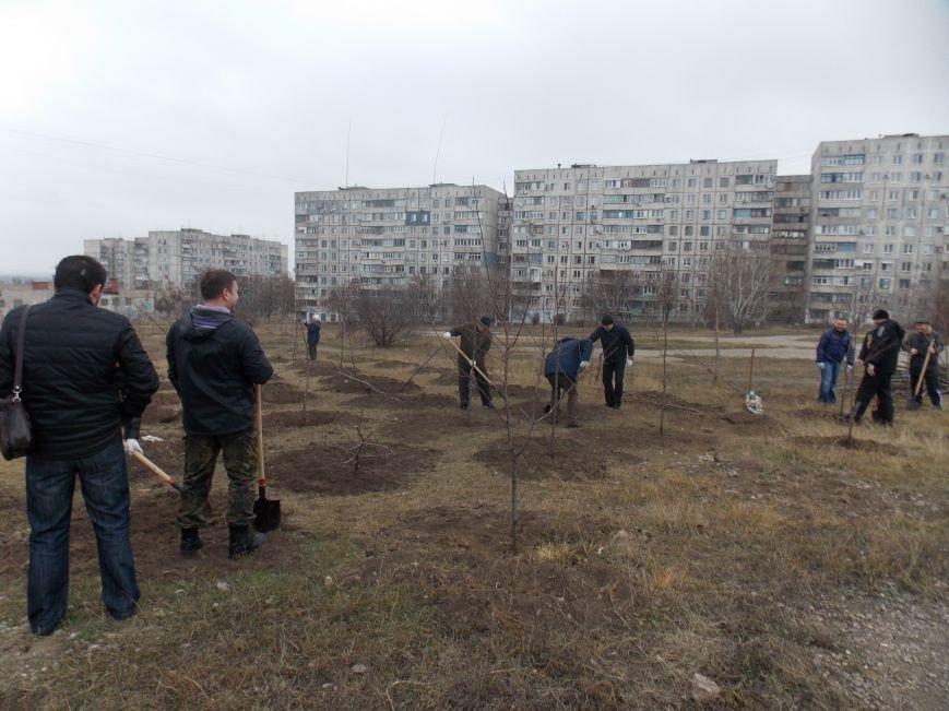 В Мариуполе городской голова принял участие в субботнике и посадил клены (ФОТОРЕПОРТАЖ), фото-7