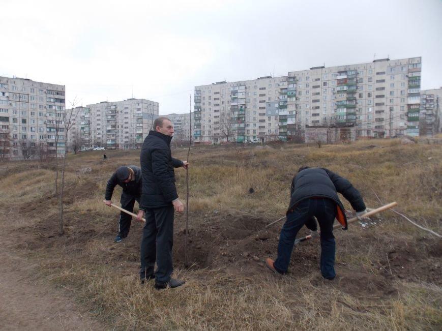В Мариуполе городской голова принял участие в субботнике и посадил клены (ФОТОРЕПОРТАЖ), фото-4