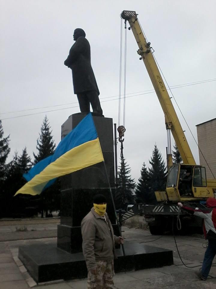 В Черниговской области избавились еще от одного Ленина, фото-2