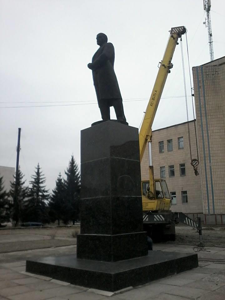 В Черниговской области избавились еще от одного Ленина, фото-1