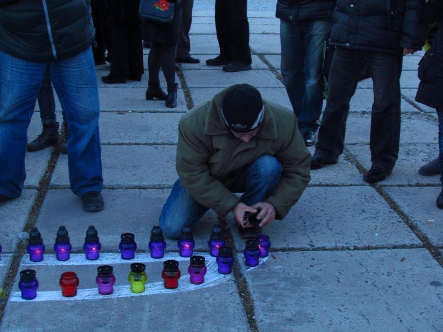 В Мариуполе на площади павшего Ленина зажгли герб Украины (ФОТОРЕПОРТАЖ+ВИДЕО), фото-13