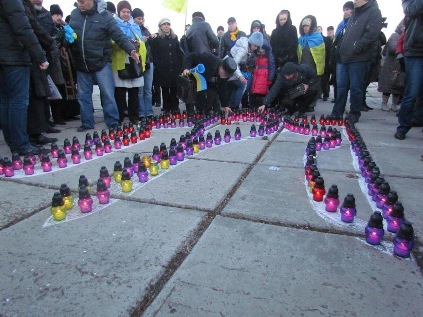 В Мариуполе на площади павшего Ленина зажгли герб Украины (ФОТОРЕПОРТАЖ+ВИДЕО), фото-17