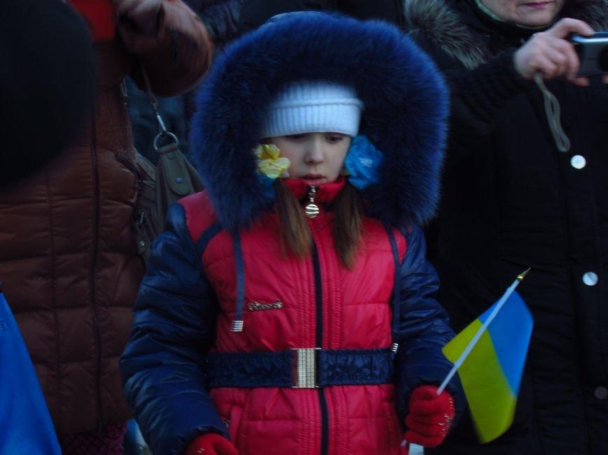 В Мариуполе на площади павшего Ленина зажгли герб Украины (ФОТОРЕПОРТАЖ+ВИДЕО), фото-6
