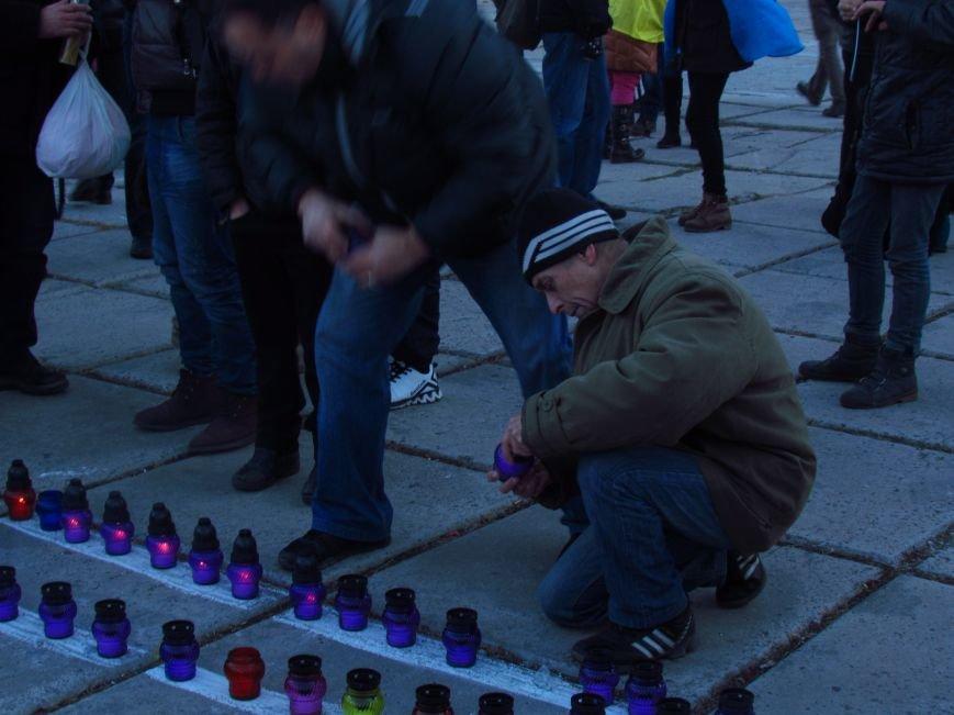В Мариуполе на площади павшего Ленина зажгли герб Украины (ФОТОРЕПОРТАЖ+ВИДЕО), фото-12