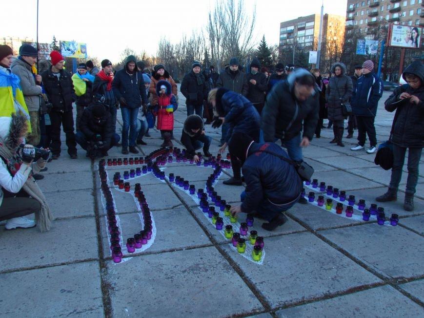 В Мариуполе на площади павшего Ленина зажгли герб Украины (ФОТОРЕПОРТАЖ+ВИДЕО), фото-8