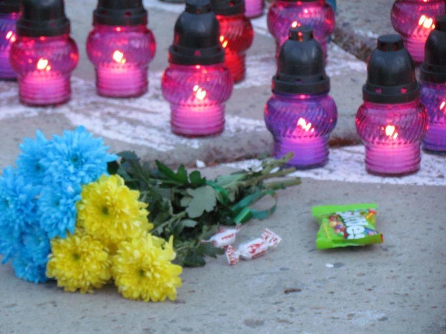 В Мариуполе на площади павшего Ленина зажгли герб Украины (ФОТОРЕПОРТАЖ+ВИДЕО), фото-24