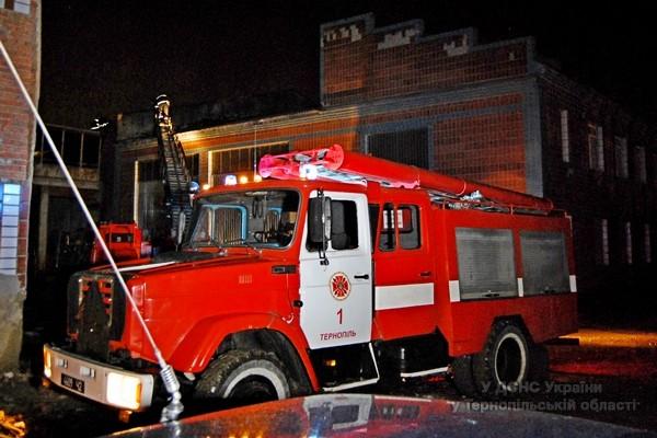 У Тернополі виникла пожежа в оптовій торговельній базі (фото, відео), фото-1
