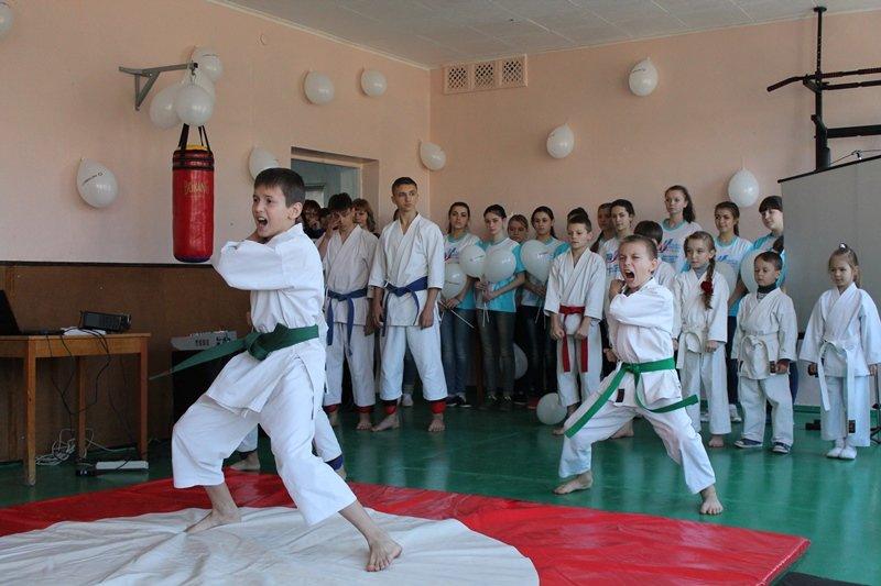 Оборудованный зал для каратистов – результат программы «Город – нашими руками» в краснодонской школе (ФОТО), фото-3