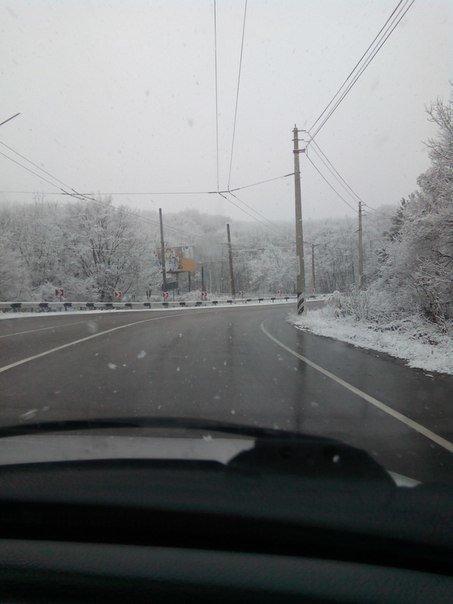 снег алушта
