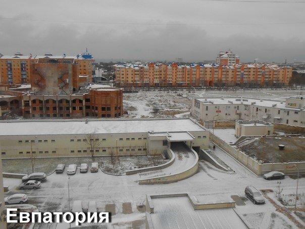 снег евпатория
