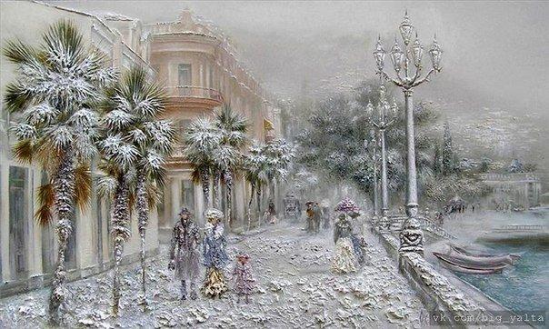 Снег ялта рисуют