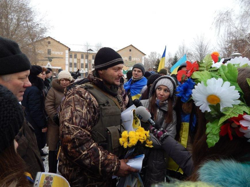 ФОТОФАКТ: бойцов АТО встречали в Запорожье хлебом-солью (фото) - фото 1