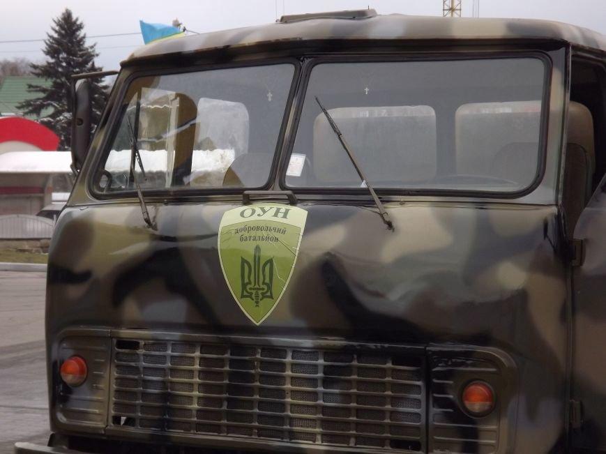 Тернополяни передали батальйону «ОУН» вантажівку з номерами «ПТН ПНХ» (фоторепортаж) (фото) - фото 2