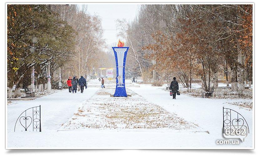Первый снег в Славянске. Поздравляем всех! (фото) - фото 1