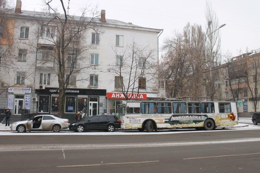 ДТП в Кривом Роге: троллейбус сгреб три иномарки (ФОТО), фото-8