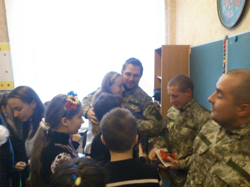 «Киборги» ВСУ встретились со школьниками города Днепродзержинск, фото-4