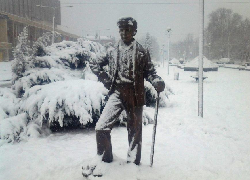 ФОТОРЕПОРТАЖ: Запорожье замело снегом, фото-26