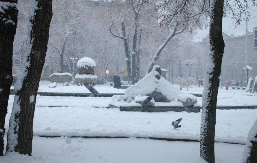 ФОТОРЕПОРТАЖ: Запорожье замело снегом, фото-16