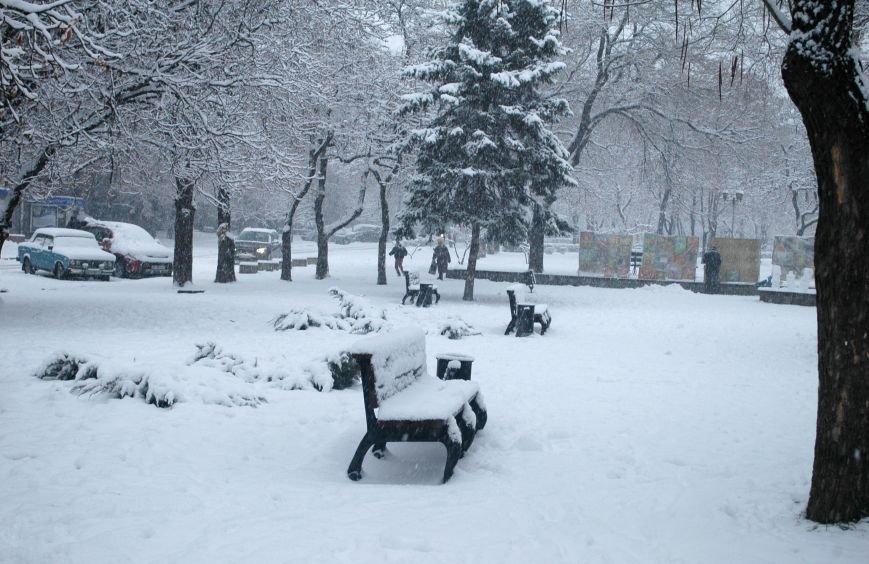 ФОТОРЕПОРТАЖ: Запорожье замело снегом, фото-15