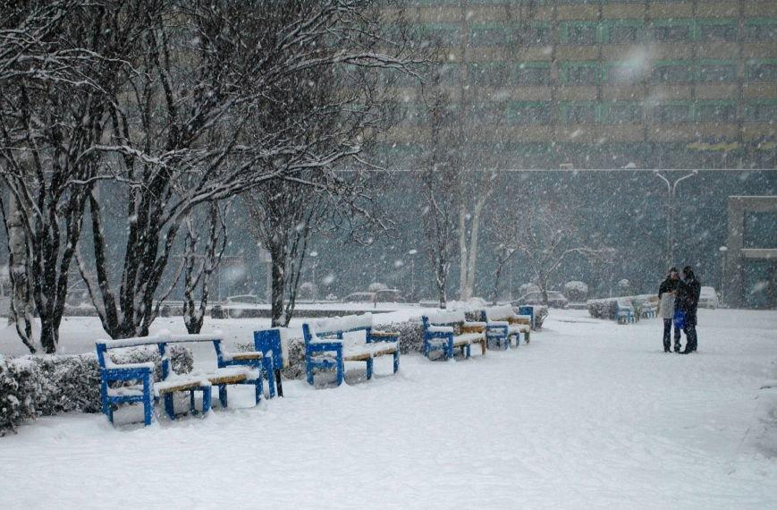ФОТОРЕПОРТАЖ: Запорожье замело снегом, фото-4