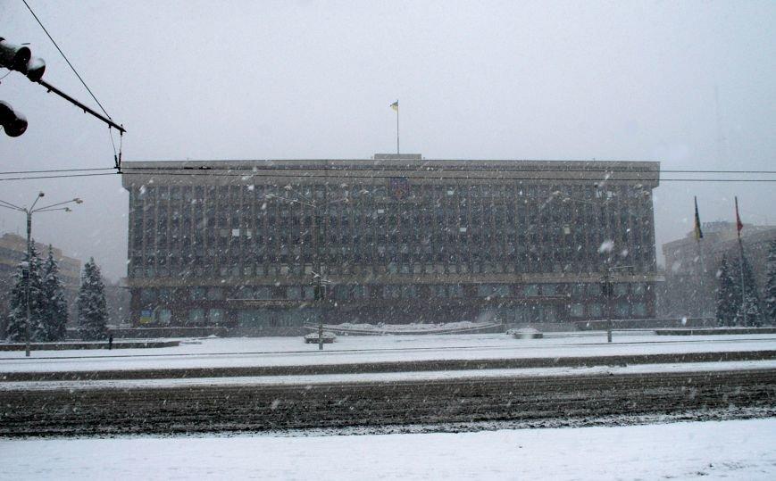 ФОТОРЕПОРТАЖ: Запорожье замело снегом, фото-1