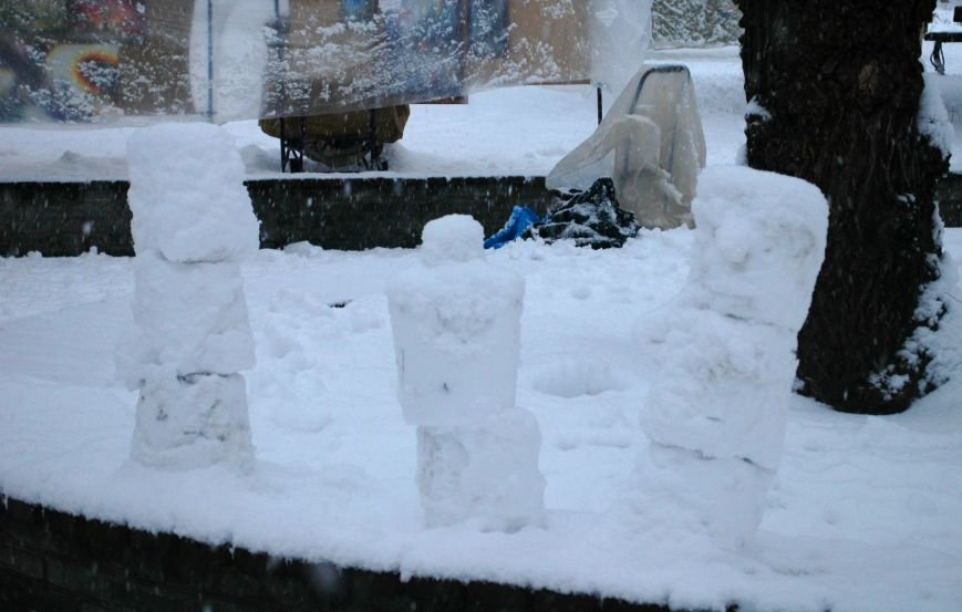 ФОТОРЕПОРТАЖ: Запорожье замело снегом, фото-17