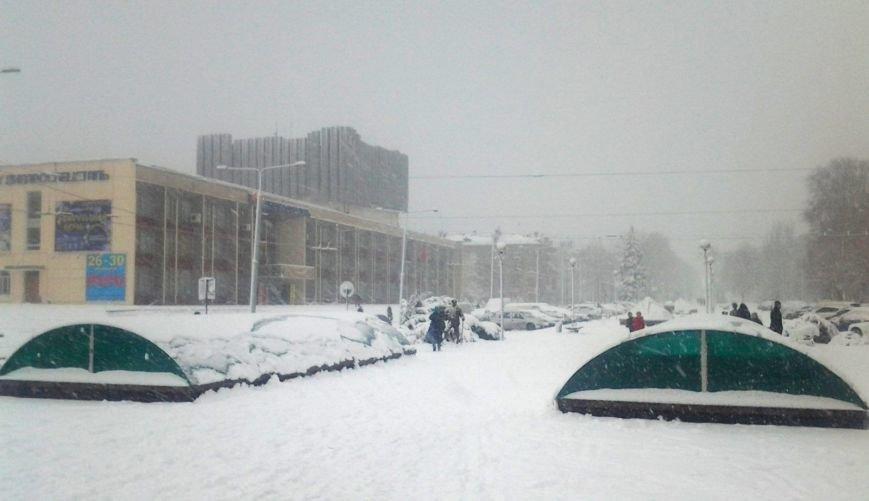 ФОТОРЕПОРТАЖ: Запорожье замело снегом, фото-25