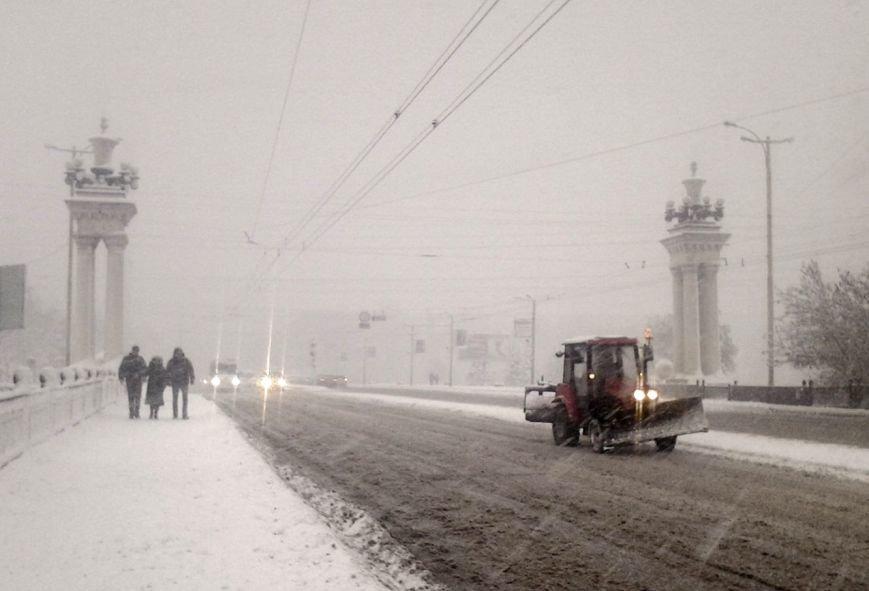 ФОТОРЕПОРТАЖ: Запорожье замело снегом, фото-32