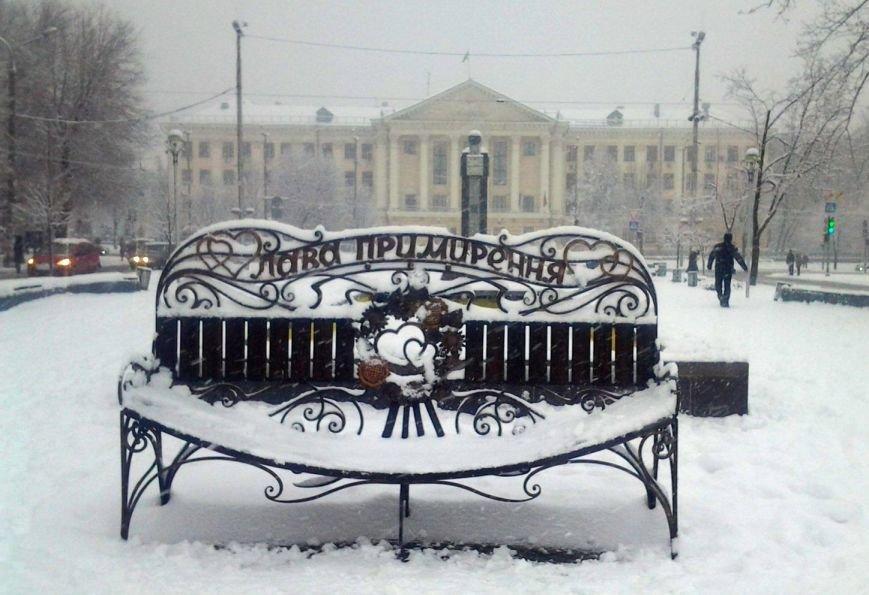 ФОТОРЕПОРТАЖ: Запорожье замело снегом, фото-24