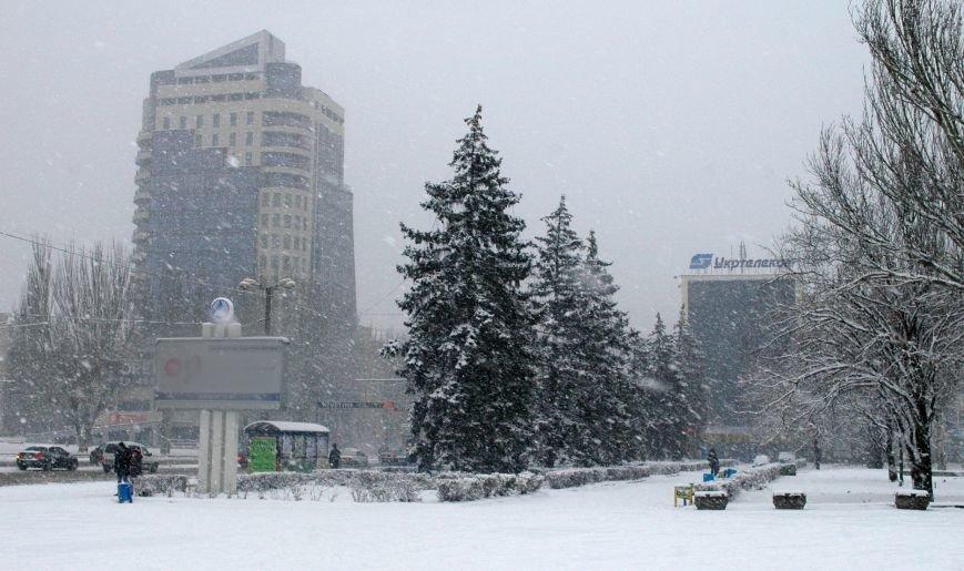 ФОТОРЕПОРТАЖ: Запорожье замело снегом, фото-6