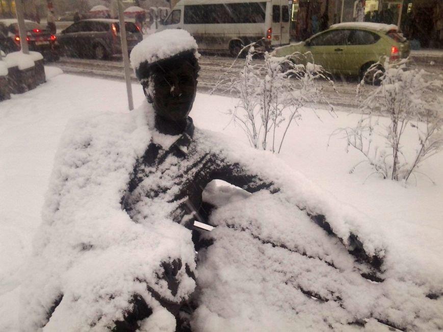 ФОТОРЕПОРТАЖ: Запорожье замело снегом, фото-36