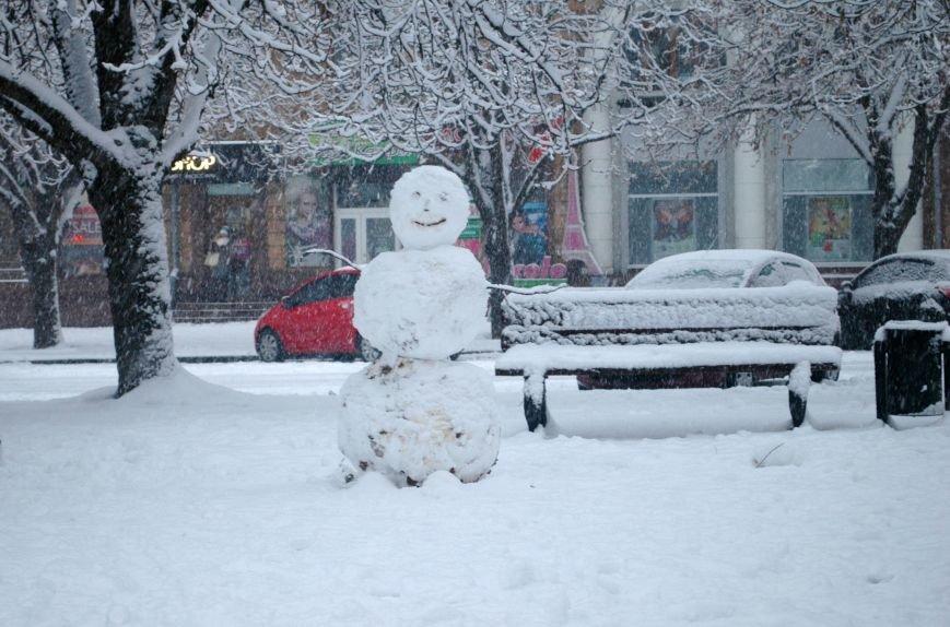 ФОТОРЕПОРТАЖ: Запорожье замело снегом, фото-14