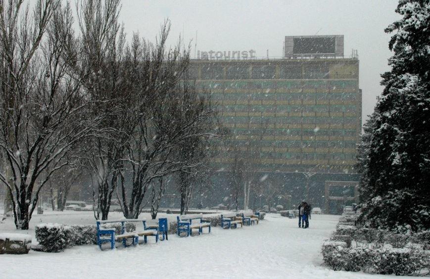 ФОТОРЕПОРТАЖ: Запорожье замело снегом, фото-5