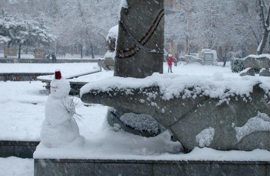 ФОТОРЕПОРТАЖ: Запорожье замело снегом, фото-12