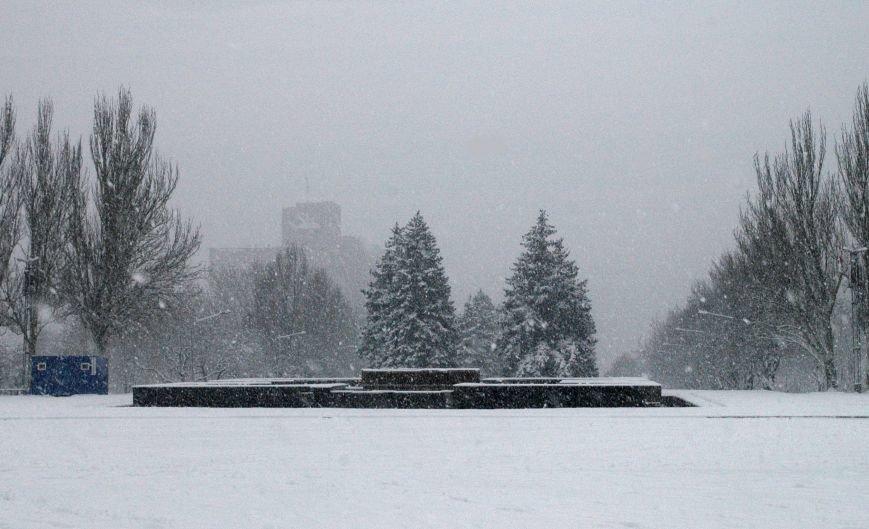 ФОТОРЕПОРТАЖ: Запорожье замело снегом, фото-3