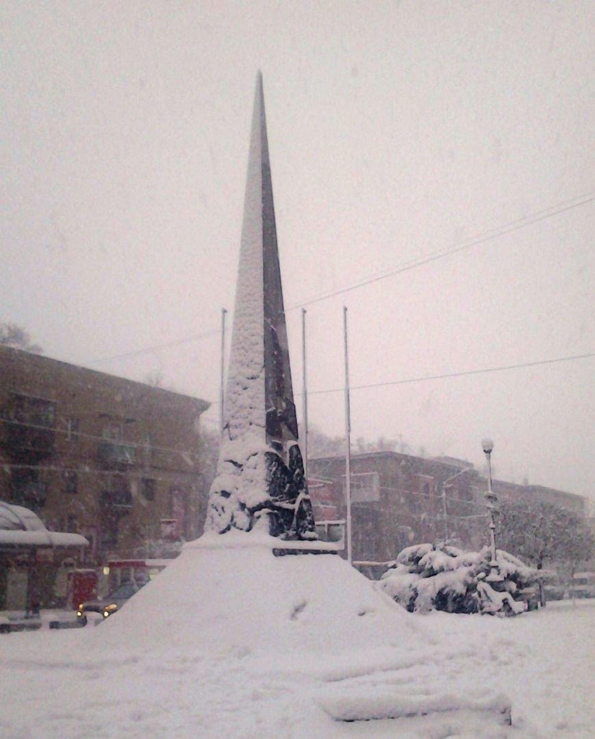 ФОТОРЕПОРТАЖ: Запорожье замело снегом, фото-37
