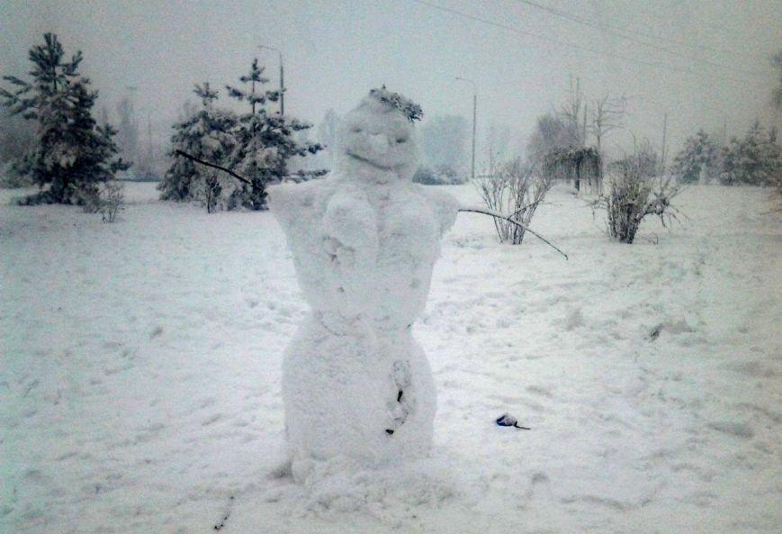 ФОТОРЕПОРТАЖ: Запорожье замело снегом, фото-34