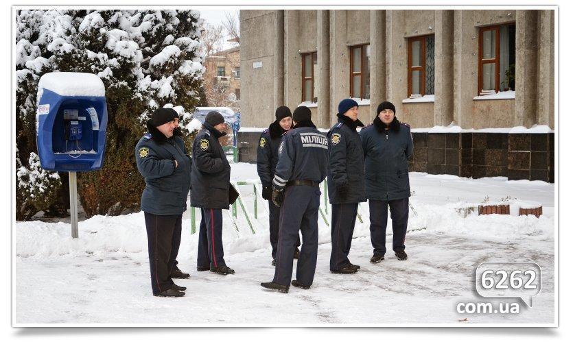 Славянск, пикет у входа в исполком. (фото) - фото 5