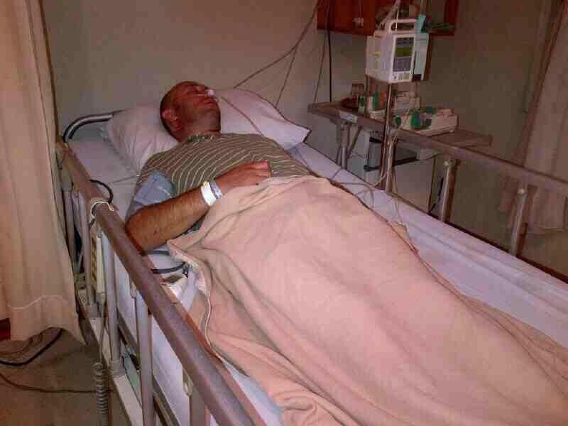 один из членов экипажа в больнице