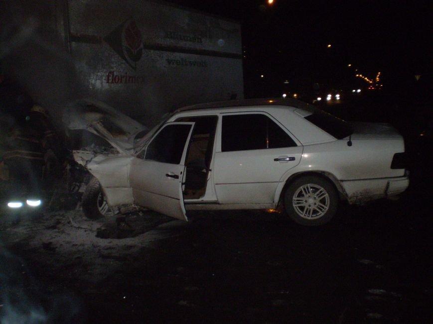 ДТП в Кременчуге: Мерседес «протаранил» Ивеко - пассажир в реанимации (ФОТО) (фото) - фото 1